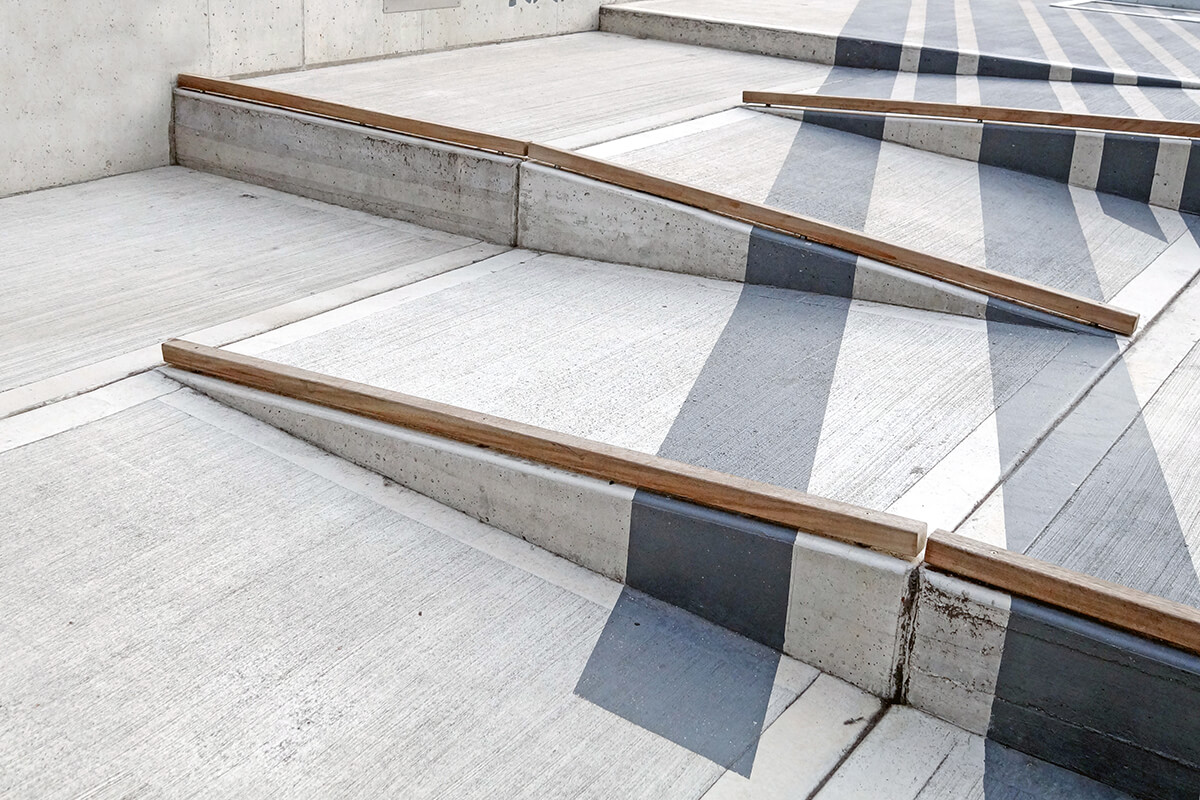 There are incentives that can help companies hiring persons with disabilities build wheelchair ramps like this.