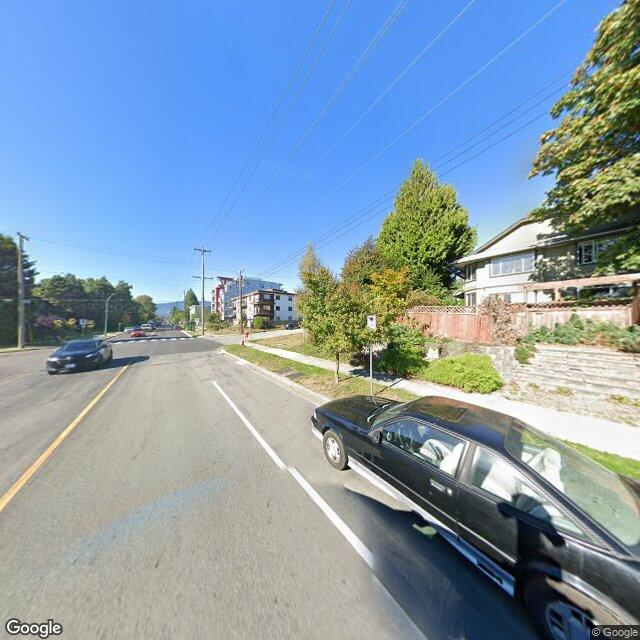Street view of North Vancouver, British Columbia